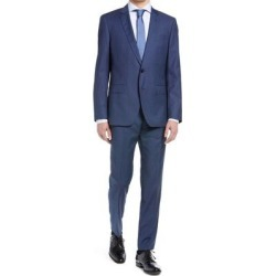 Huge/genius Slim Fit Check Wool Suit - Blue - HUGO Suits found on MODAPINS from lyst.com for USD $398.00