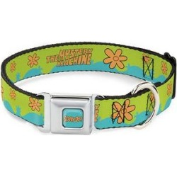 Buckle-Down Scooby Doo Mystery Machine Polyester Dog Collar, Medium Wide: 16 to 23-in neck, 1.5-in wide found on Bargain Bro India from Chewy.com for $32.50