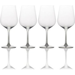 Mikasa Gianna Ombre Smoke 15.25 oz. White Wine Glass (Set of 4) (Set of 4 - Smoke), Clear(Crystal) found on Bargain Bro Philippines from Overstock for $40.99