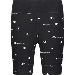 Champion Girls' Active Shorts BLACK - Black 'C' Logo-Print Bike Shorts - Girls found on Bargain Bro from zulily.com for USD $9.11