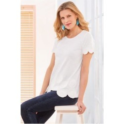 Women Alzeta Top by Soft Surroundings, in White size 1X (18-20)