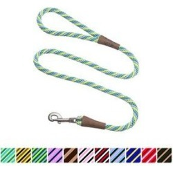 Mendota Products Large Snap Striped Rope Dog Leash, Seafoam, 6-ft long, 1/2-in wide found on Bargain Bro Philippines from Chewy.com for $17.49