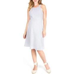 Molly Stripe Maternity Sundress - White - Nom Maternity Dresses found on Bargain Bro India from lyst.com for $128.00