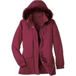Haband Womens Ultimate Parka, Crimson Red, Size Misses, S found on Bargain Bro Philippines from Haband for $29.99