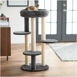 Frisco 41-in Faux Fur Cat Tree, Dark Charcoal found on Bargain Bro Philippines from Chewy.com for $64.10