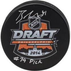 Brayden Point Tampa Bay Lightning Fanatics Authentic Autographed 2014 NHL Draft Logo Hockey Puck with