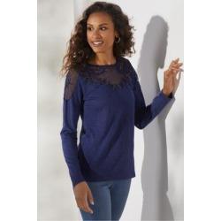Women Drift T-Shirt by Soft Surroundings, in Nautical Navy size 1X (18-20)