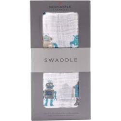 Robot Cotton Swaddle - Newcastle Classics 423