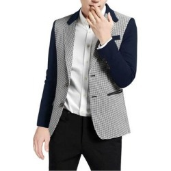 Unique Bargains Men's Houndstooth Pattern Split Side Casual Jacket found on MODAPINS from Overstock for USD $37.13