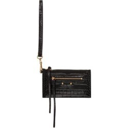 Black Croc Xs Neo Classic Pouch - Black - Balenciaga Clutches found on Bargain Bro from lyst.com for USD $475.00