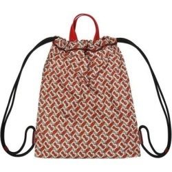 Monogram Print Nylon Drawcord Backpack - Pink - Burberry Messenger found on Bargain Bro from lyst.com for USD $349.60