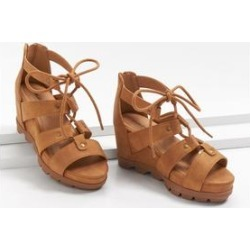 Maurices Womens Francesca Ghille Lace Up Wedge Brown - Size 7 found on Bargain Bro from Maurices for USD $30.32