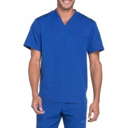 Dickies Men's Dynamix V-Neck Scrub Top With Zipper Pocket - Galaxy Blue Size L (DK610) found on Bargain Bro India from Dickies.com for $28.99