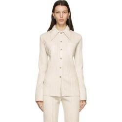Off-white Vegan Leather Blaine Shirt - White - Nanushka Tops found on MODAPINS from lyst.com for USD $650.00