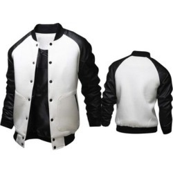 Mens Fashion Casual Slim Baseball Jacket found on MODAPINS from Overstock for USD $33.55