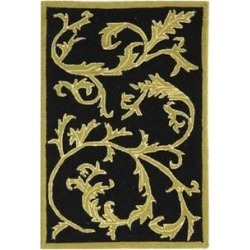 Safavieh Black Chelsea Simple Vines Area Rug Collection found on Bargain Bro Philippines from belk for $228.50