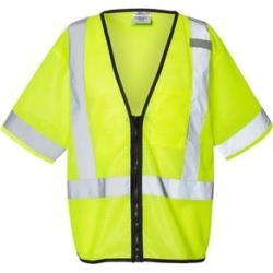 Economy Single Pocket Zipper Vest (Lime - 4XL/5XL), Men's, Green(polyester) found on Bargain Bro Philippines from Overstock for $33.98