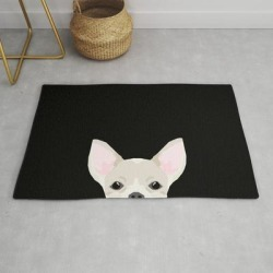 Modern Throw Rug | Chihuahua Peeking Dog Breed Cute Chihuahuas Gifts For Dog Moms Pure Breed by Chiwawa Fans - 2' x 3' - Society6 found on Bargain Bro from Society6 for USD $29.79