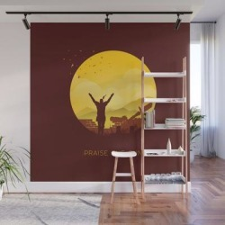 Solaire (dark Souls) Wall Mural by Michael Cullen-benson - 8' X 8' found on Bargain Bro from Society6 for USD $170.99
