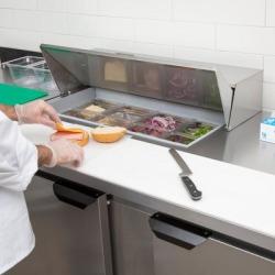 "Beverage Air SPE60-08 60"" 2 Door Refrigerated Sandwich Prep Table"