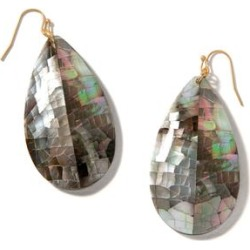 Spartina 449 Women's Earrings - Iced Gray Mother-of-Pearl & 18k Gold-Plated Teardrop Earrings found on Bargain Bro India from zulily.com for $24.99