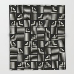 Bed Throw Blanket | Balance Lines by Grace - 51