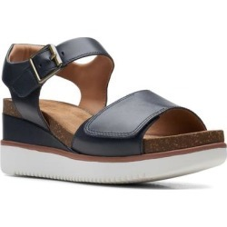 Clarks Un Lizby Platform Sandal - Blue - Clarks Heels found on Bargain Bro India from lyst.com for $130.00
