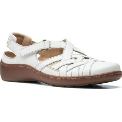 Cora Dream Leather Sandal - White - Clarks Flats found on Bargain Bro from lyst.com for USD $53.20