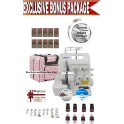 Juki MO-654DE 2/3/4 Thread Overlock Serger w/ Platinum Series Serger Package!, White found on Bargain Bro Philippines from Overstock for $610.00