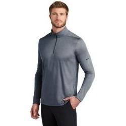 Nike Men's Dry 1/2 Zip Warm Up (Gym Blue - Medium)(polyester, Solid) found on Bargain Bro from Overstock for USD $48.63