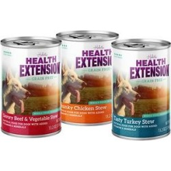 Health Extension Grain-Free Stew Variety Pack Canned Dog Food, 13.2-oz, case of 12