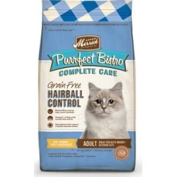 Merrick Purrfect Bistro Complete Care Grain Free Hairball Control Recipe Dry Cat Food, 4 lbs.