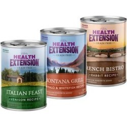 Health Extension Variety Pack Grain-Free Canned Dog Food, 12.5-oz, case of 12