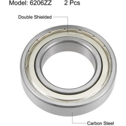 6210ZZ Deep Groove Ball Bearings Z2 50x90x20mm Double Shielded Carbon Steel 2pcs found on Bargain Bro from Overstock for USD $31.50