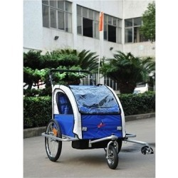 Aosom Elite II 3 in 1 Double Child Baby Bike Trailer and Stroller found on Bargain Bro Philippines from Overstock for $219.49