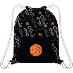 Monday's Child Girls' Fitness Bags - Black & Orange Personalized Basketball Drawstring Bag found on Bargain Bro Philippines from zulily.com for $16.99