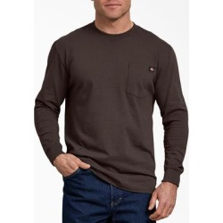 Dickies Men's Big & Tall Long Sleeve Heavyweight Crew Neck T-Shirt - Dark Brown Size 3 (WL450) found on Bargain Bro India from Dickies.com for $19.99