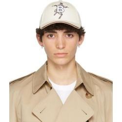 Off-white Mythical Alphabet 'b' Faun Cap - White - Burberry Hats found on Bargain Bro from lyst.com for USD $448.40