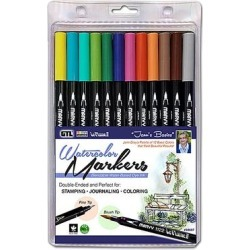GTL Markers Multi - Marvy Le Plume II Bible Journaling Watercolor Marker Set found on Bargain Bro India from zulily.com for $24.99