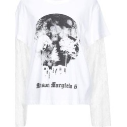 T-shirt - White - MM6 by Maison Martin Margiela Tops found on Bargain Bro from lyst.com for USD $133.00