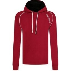 Hugo Boss Men's Long Sleeve Logo Stripe Detail Hoodie (Red - S) found on MODAPINS from Overstock for USD $99.64