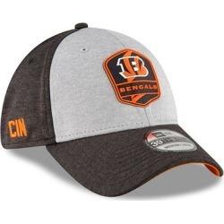Cincinnati Bengals New Era 2018 NFL Sideline Road Official 39THIRTY Flex Hat - Heather Gray/Black found on Bargain Bro from Fanatics for USD $24.31