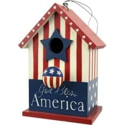 Red Carpet Studios God Bless America Bird House found on Bargain Bro from Chewy.com for USD $15.20