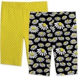 Sunshine Swing Girls' Casual Shorts - Black & Yellow Daisy Bike Shorts Set - Girls found on Bargain Bro from zulily.com for USD $12.91