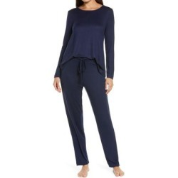 Fleece Pajamas - Blue - Natori Nightwear found on Bargain Bro Philippines from lyst.com for $98.00