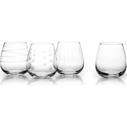 Mikasa 'Cheers' 14 oz. Stemless Glass (Set of 4) (Set of 4), Clear(Crystal) found on Bargain Bro from Overstock for USD $30.39