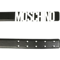 Belt With Logo Lettering - Black - Moschino Belts found on Bargain Bro from lyst.com for USD $193.80