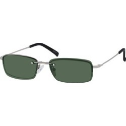 Zenni Men's Rectangle Prescription Glasses Half-Rim W/ Snap-On Sunlens Silver Stainless Steel Frame found on Bargain Bro Philippines from Zenni Optical for $19.95