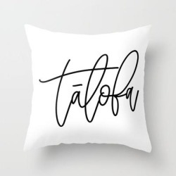 Talofa Calligraphy Couch Throw Pillow by Urban Nesian - Cover (16