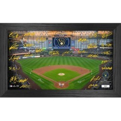 Milwaukee Brewers Highland Mint 12'' x 20'' Facsimile Signature Field Framed Photo found on Bargain Bro from Fanatics for USD $45.59